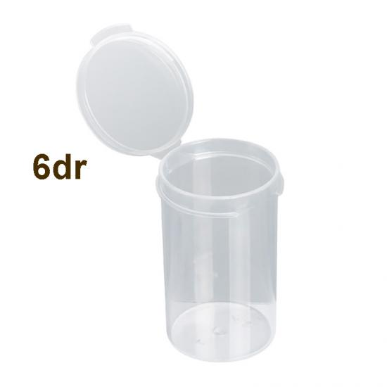 6 Dram Translucent Flip Top Container