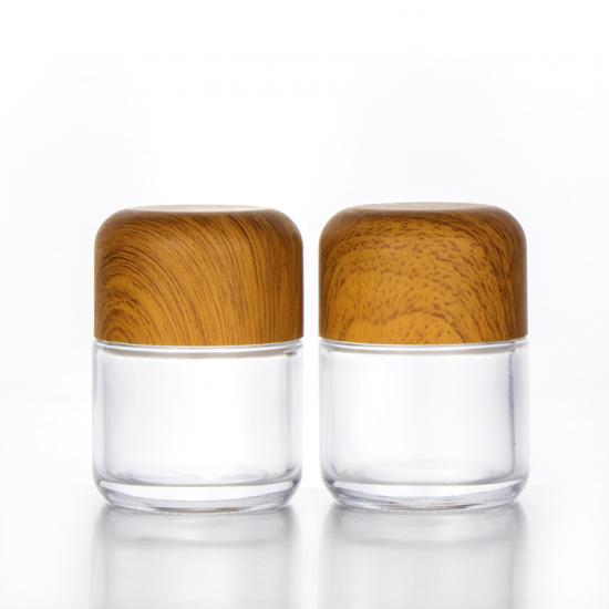 Child Proof Jar Child Resistant Cap Glass Jar with Bamboo Lid